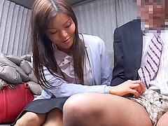 Straight haired Japanese MILF teases a..