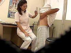 Japanese nurse sucks a guys lucky guys..
