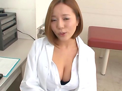 Ruri Saijo shows her big tits while..