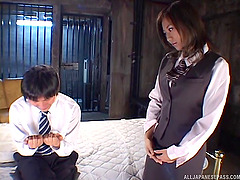 Big boobs Asian moans noisily while..