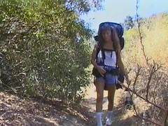 Wanking guy takes a hiker home and..