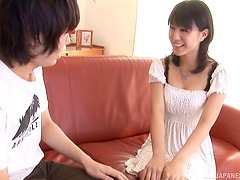 Naive barely legal Japanese girl gives..