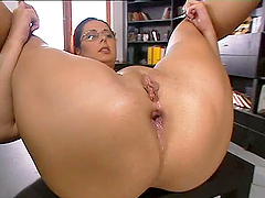 Babe Gets A Big Cock Rammed Up Her Ass.