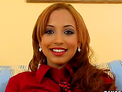 Latin girl fucks and smiles and it..