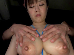 Flirty Asian broad with big tits gets..