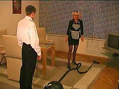 Lovely milf maid and the bellhop fuck..