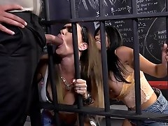 Hot prison threesome with Gabby..