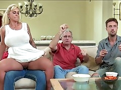 Voluptuous mom gets hard fucked until..