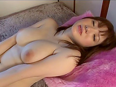 Glamorous Asian solo model stroking..