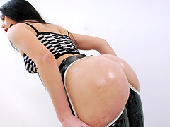 Anal beads and dildo ass fucking in..