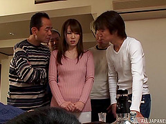 Obedient Japanese wife puts on a fuck..