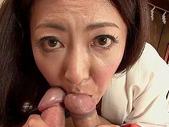 Big tits Asian mature in a kimono..