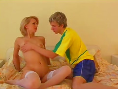 Doting blonde delivers a sizzling..