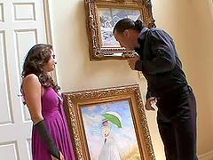 Trophy wife fucks her husband's best..