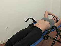 Slut with piercing exercise before..