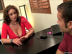 Attractive MILF uses blowjobs to..
