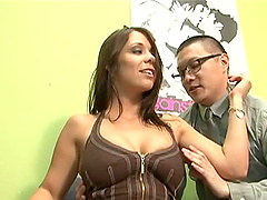 Kinky guy worships her armpits before..