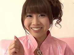 Ririka Suzuki needy milf kneels in..