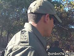 Very lucky border patrol agent has a..
