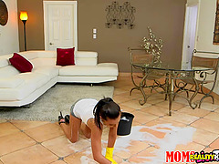 Dominate MILF uses her sexy maid for..