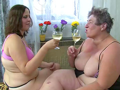 BBW grannies get out the double dong..