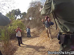 Border patrol agent fucks a hot chick..