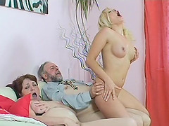 MILF mother father teaches young babe..