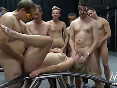 Gangbang whore used hard and covered..