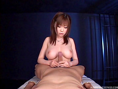 Japanese POV titjob from a cute chick..