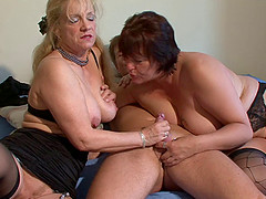 Dirty mature ladies fucked in a..