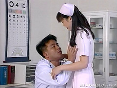 Doctor makes his sexy Japanese nurse..