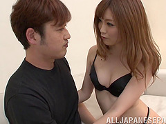 Cute Japanese girl with sexy small..