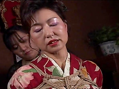 Mature Japanese wife in a kimono..