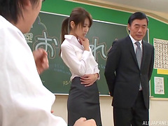 Skirt and blouse slut fucked and..