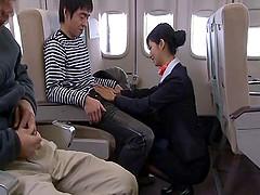 Very luscious Japanese stewardess gets..