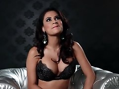 Busty glamour goddess talks in her..