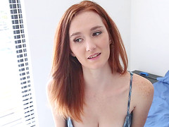 Foxy freckled redhead fucked in POV by..