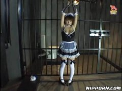 French maid put in bondage and covered..