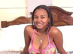 Ebony babe masturbating and toy fucks..