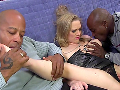Milf's first interracial threesome..