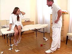 Submissive bitch gets a rough ass..