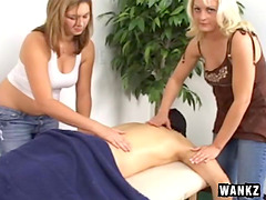 Lucky dude gets a massage and a..