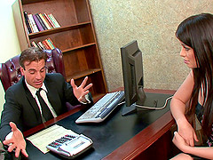 Brunette with small tits gets fucked..