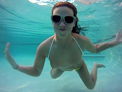 Immaculate solo model in a bikini goes..