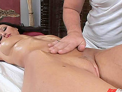 Rubbing her unbelievable body arouses..