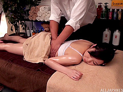 Japanese girl gets fingered and fucked..