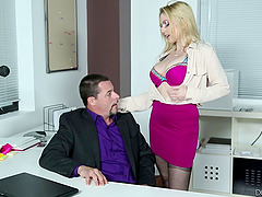 Secretary hottie Christie Stevens..