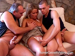 Shared hot wife fucked by a pair of..