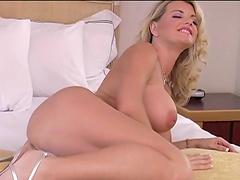 Vicky Vette gets cumshot on her tits..