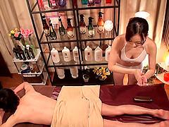 Hardcore Japanese massage with plenty..